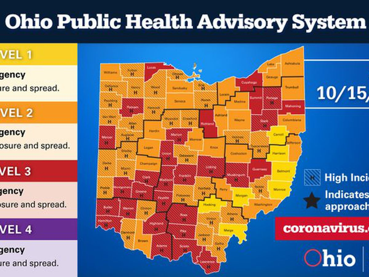 No additional deaths, 1,562 coronavirus cases reported in Ohio over the last 24 hours
