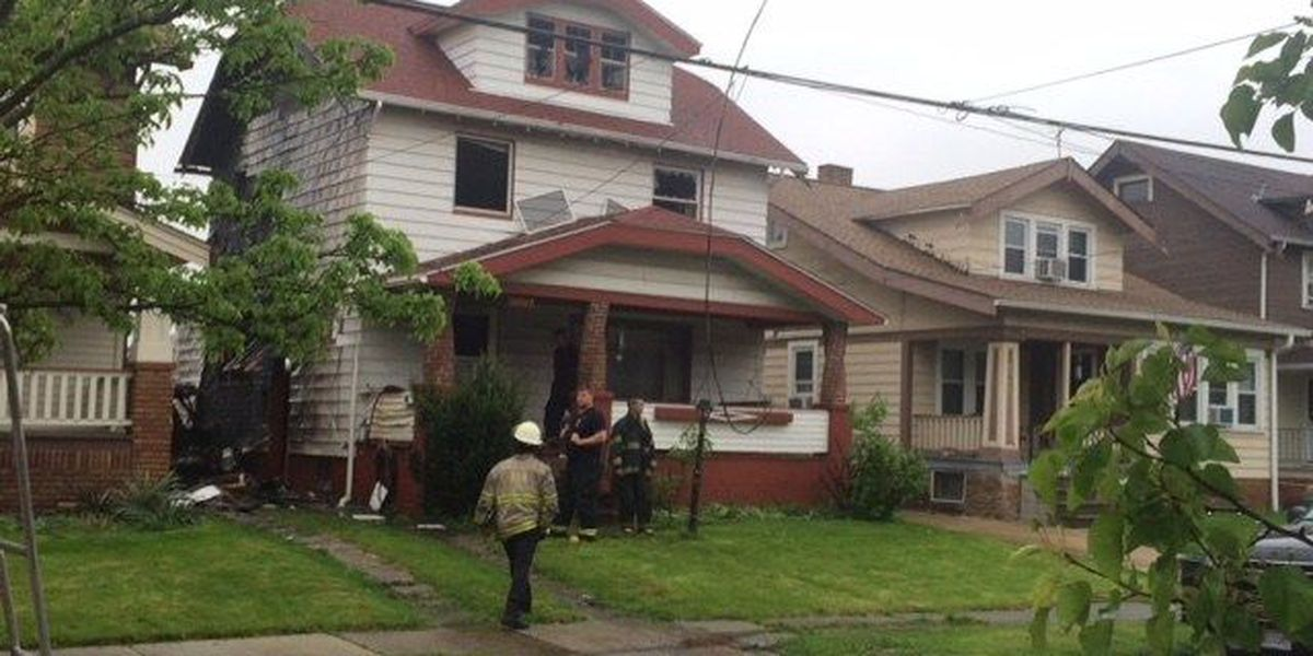 Explosion catches two houses on fire in Cleveland