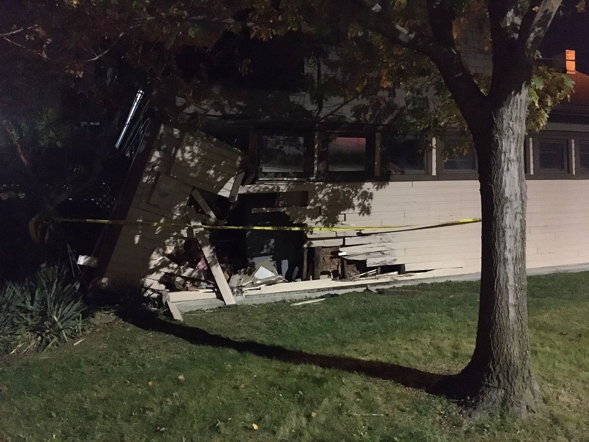 Car crashes through Cudell Recreation Center on Cleveland's West Side