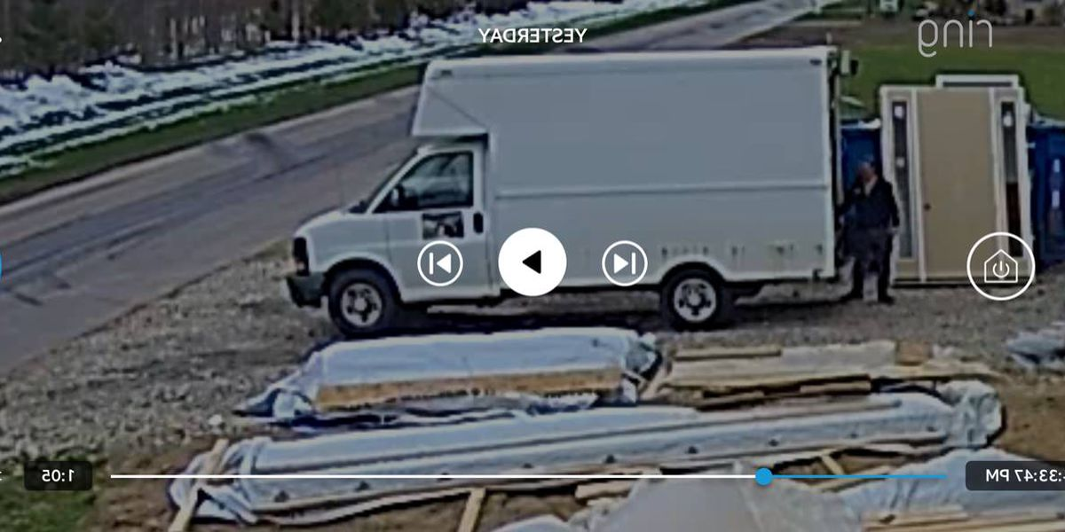 Bainbridge Township police ask for public's help IDing box truck involved in construction site tool theft