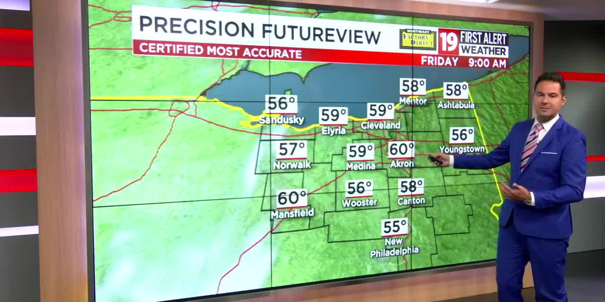 Northeast Ohio weather: Warming trend kicks into high gear Friday, frost threat low through weekend