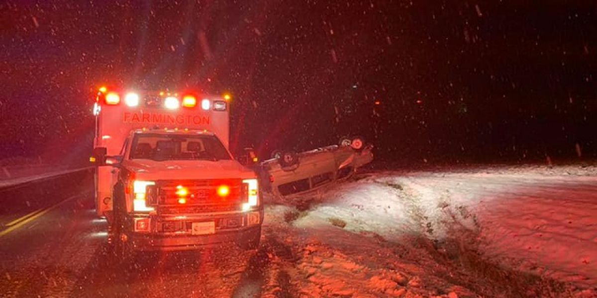 Cars slide over Geauga County roads overnight due to winter weather