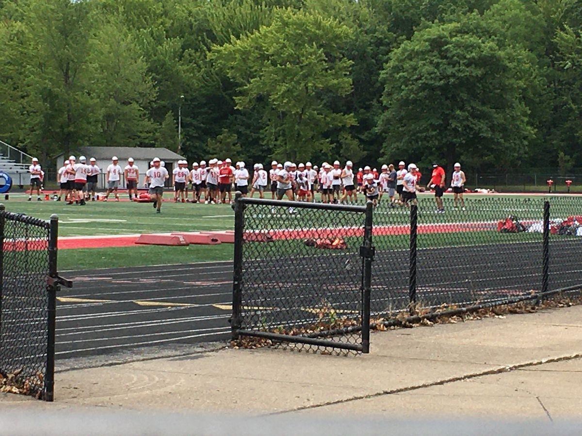 Mentor football back on the field for practice amid coronavirus crisis
