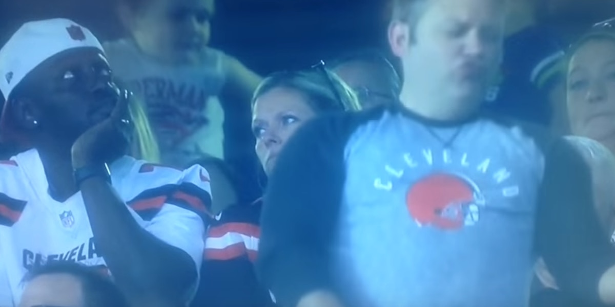 Fans on Twitter love the man dancing during the Browns game