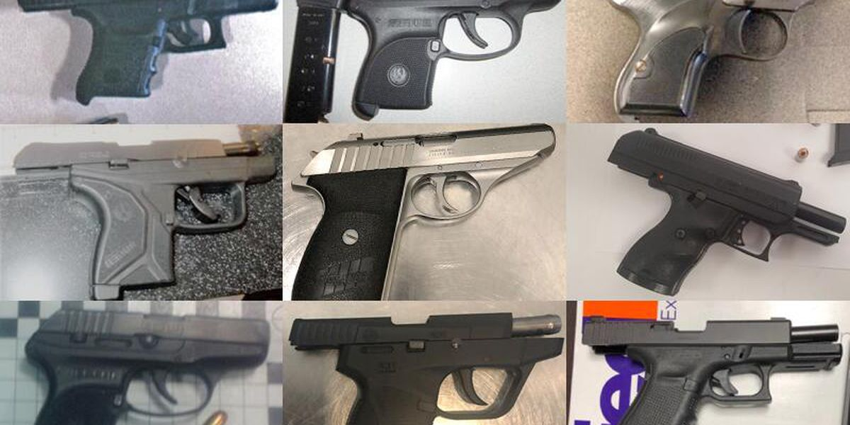 3 times as many guns were caught by TSA screeners in July, even with 75% fewer travelers