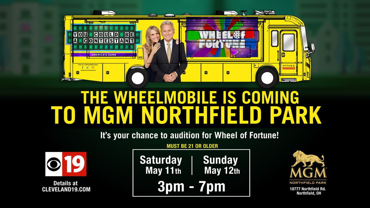 The WHEELMOBILE is coming to MGM NORTHFIELD PARK