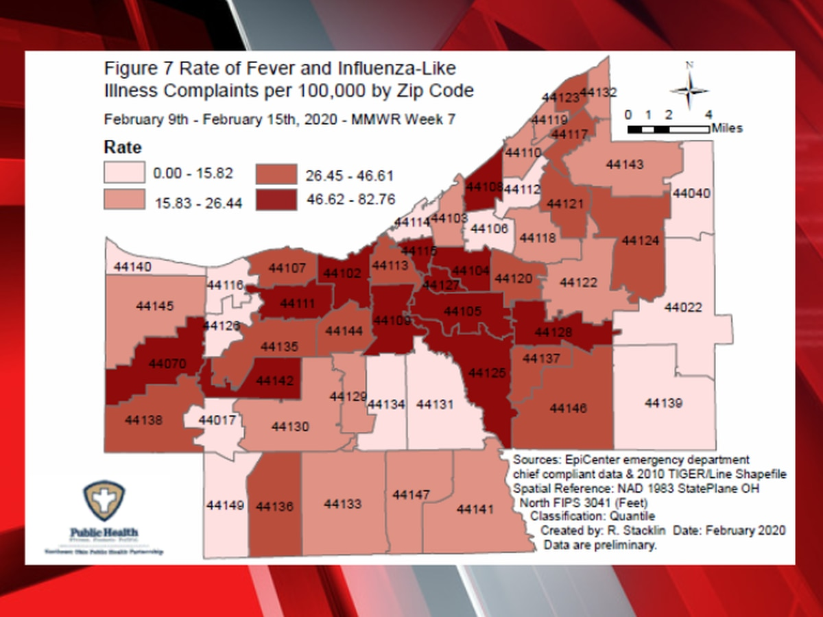 5 Cuyahoga County residents died from flu-related illnesses last week, bringing season total to 14