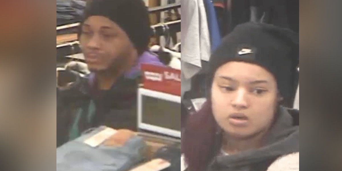Medina Township Police searching for 2 suspects stealing $600 worth of clothing merchandise at Kohl's