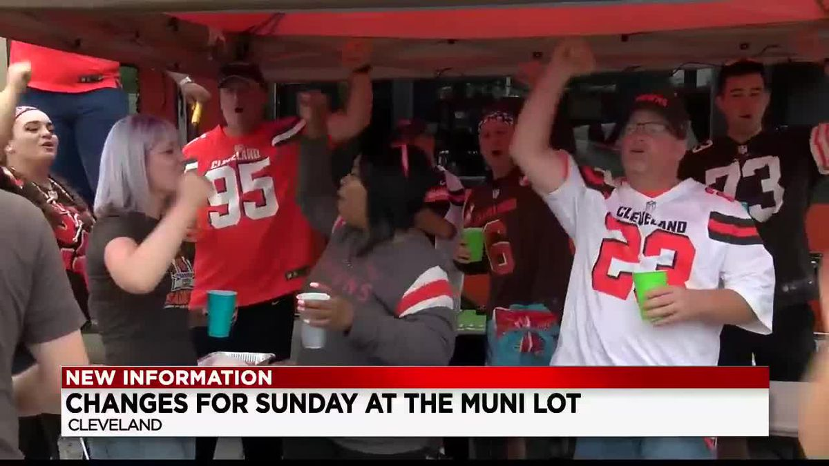 More changes coming for Muni-Lot tailgating ahead of Browns' second home game of the season