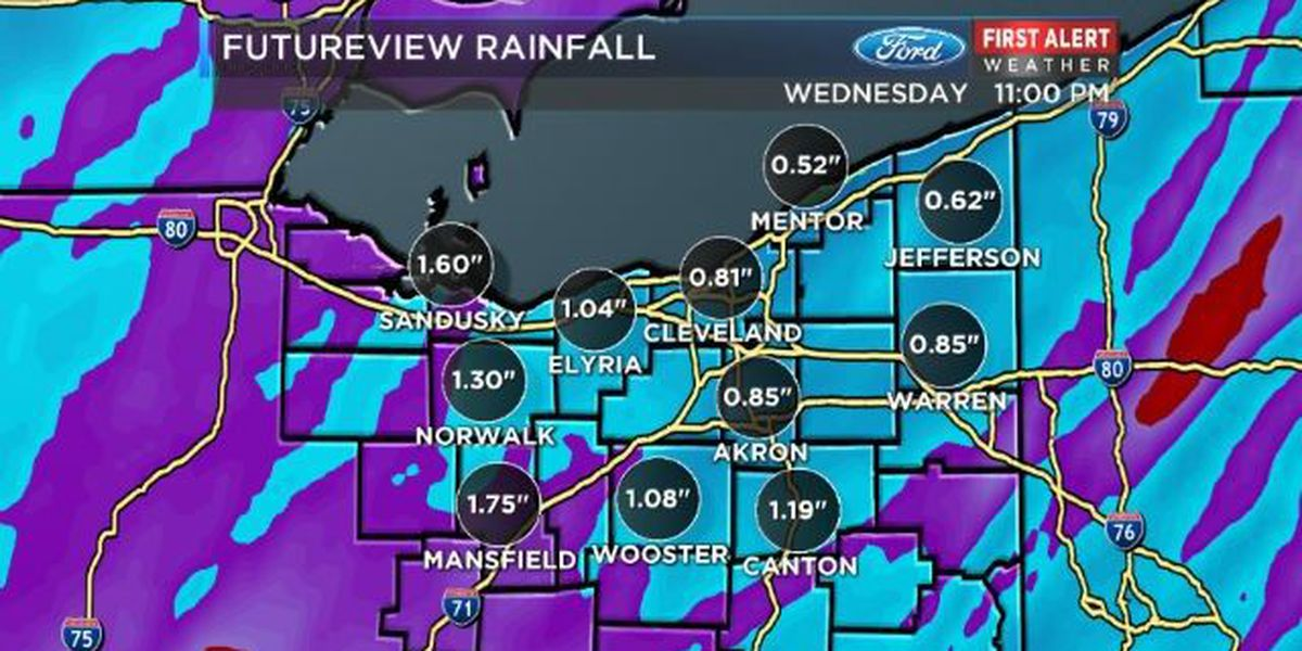 WATCH LIVE: Tracking the super soaker on Cleveland's only 9pm news