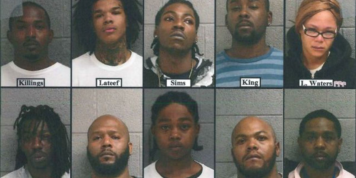 Elyria Police arrest 10 in major narcotics trafficking bust