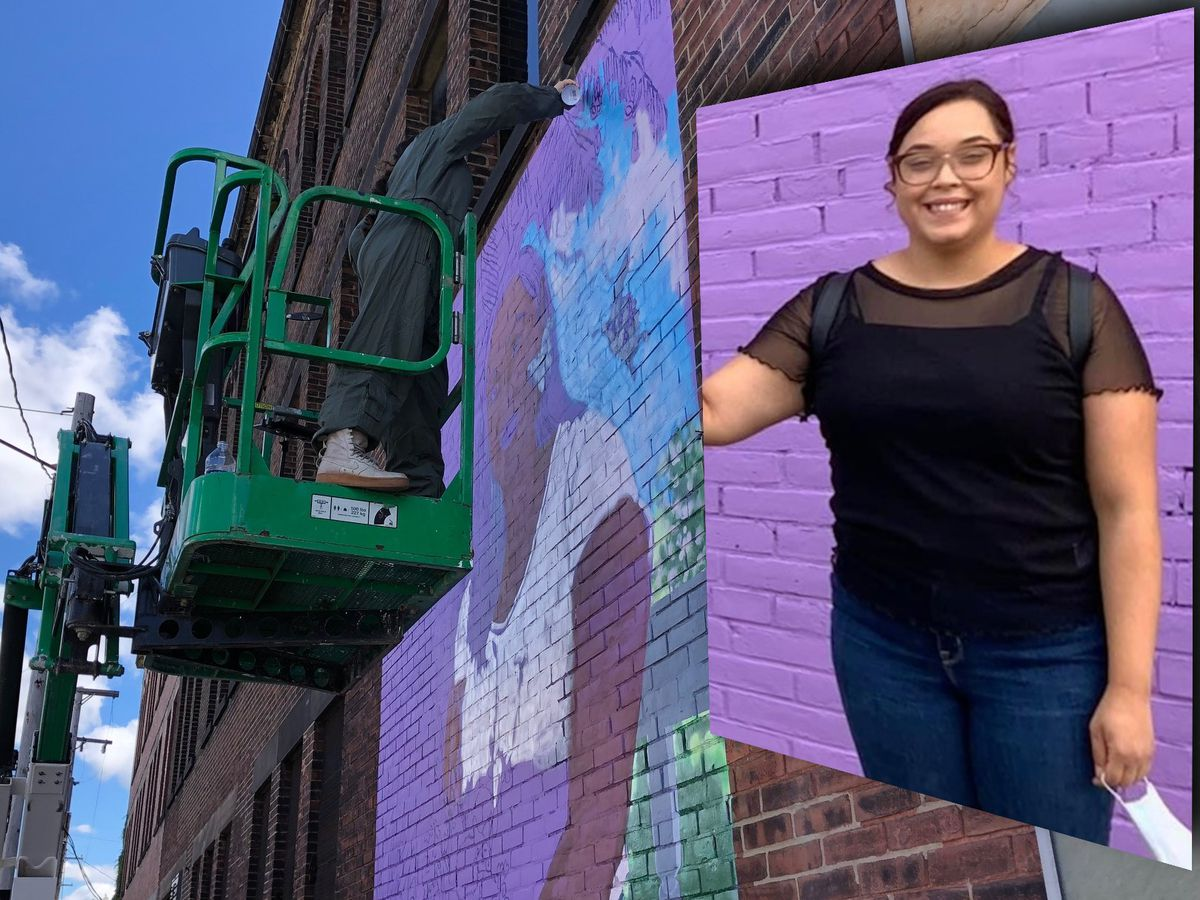 Years after being rescued from captivity, a new mural is being painted in honor of Gina DeJesus