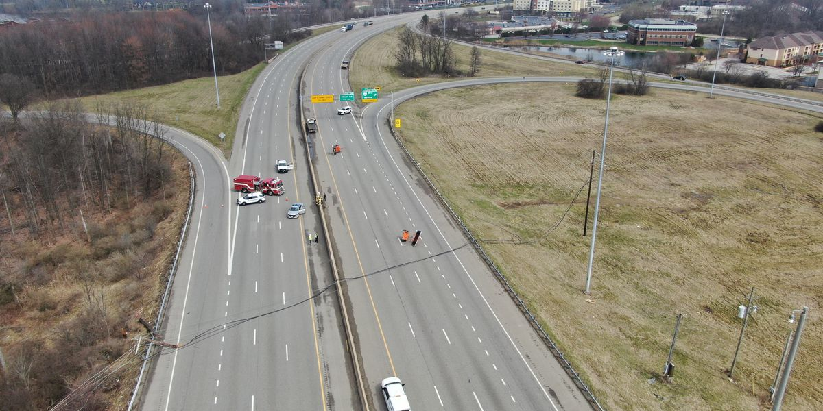 I-77 shut down both directions at Ghent Road in Akron