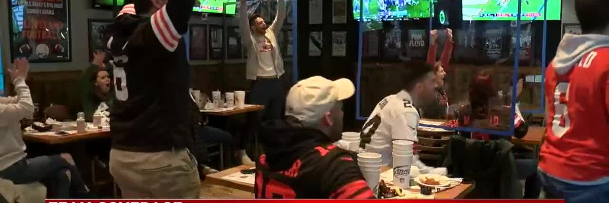 Cleveland Browns fans pumped after Cleveland wins and heads to the playoffs for the first time in 18 years