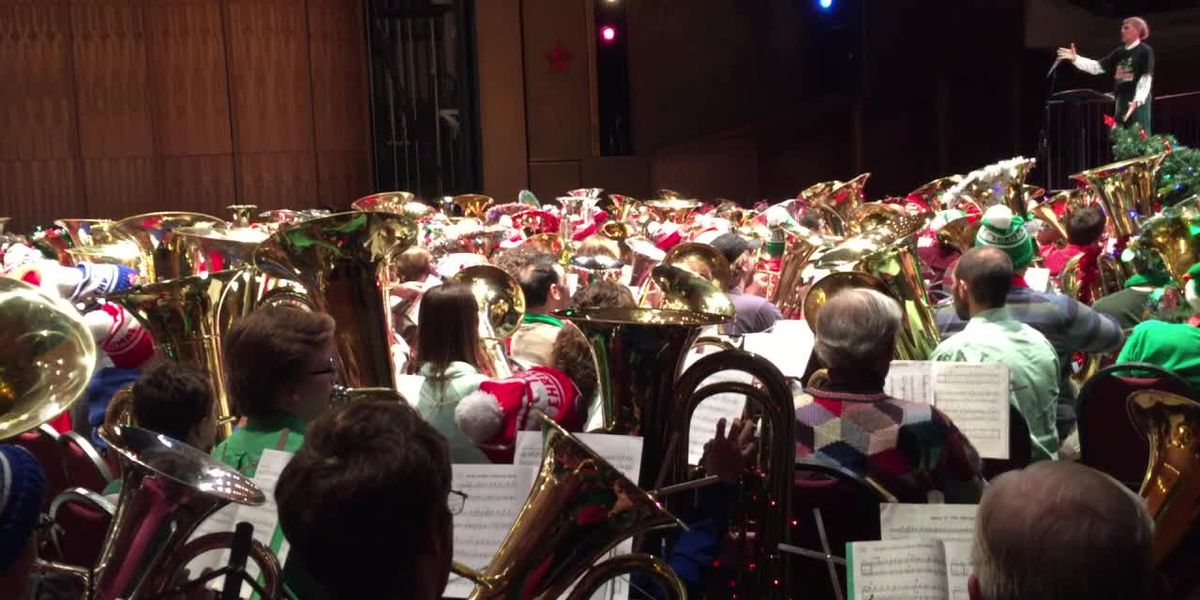 More than 400 jolly, joyful tubas expected to perform at 39th annual Tuba Christmas