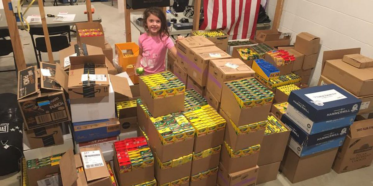 7-year-old collects 12,000 boxes of crayons for children at Rainbow Babies