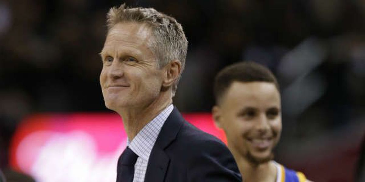 Steve Kerr says 'The Diff' on the Cavs scoreboard is good 'in case you can't do math'