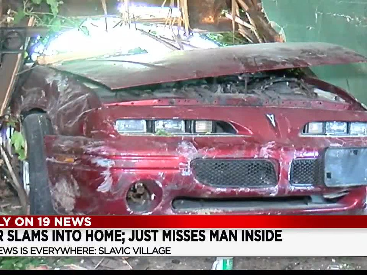 Speeding car slams into Slavic Village home, just misses man in bedroom