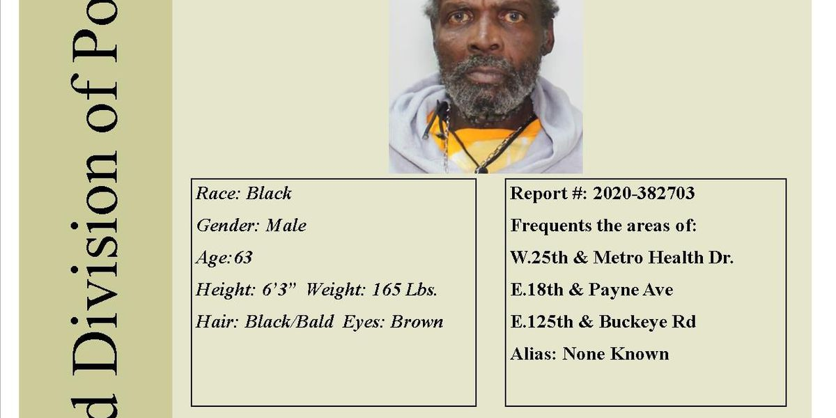Cleveland police are looking for a missing West Side man