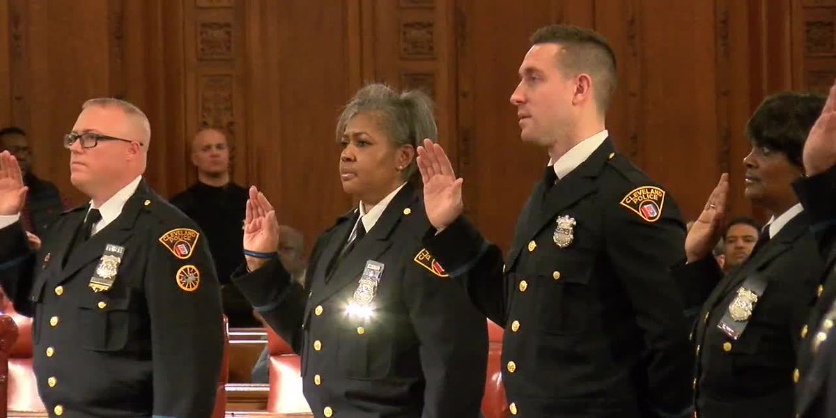 Cleveland Division of Police Ceremony promotes 14 officers