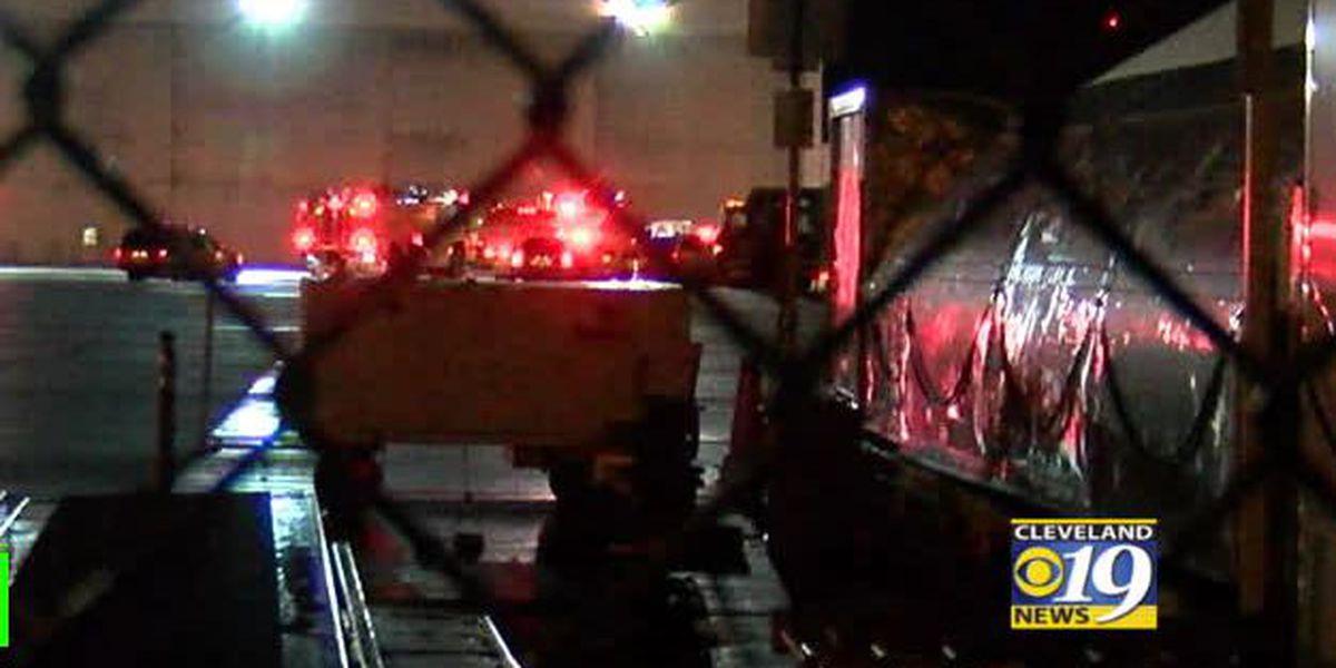 Fire and hazmat crews on alert at Cleveland Hopkins International Airport after 5,500-gallon jet fuel spill