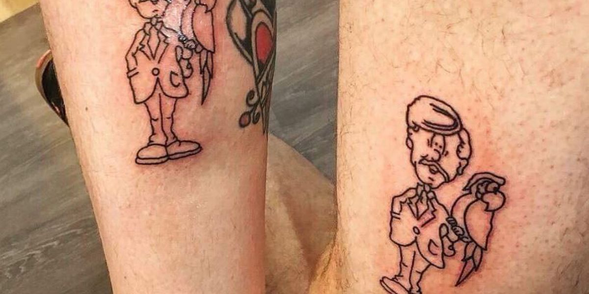 2 brothers got matching Marc's tattoos and it's the most Cleveland thing ever