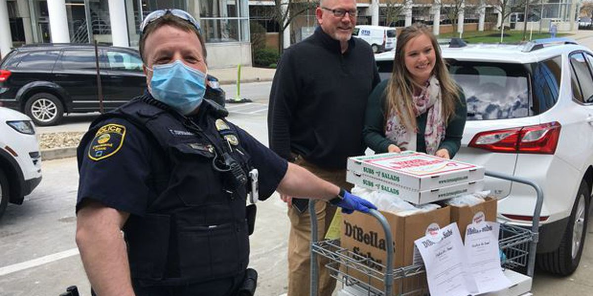 Mayfield Heights family of first responders donates lunch and dinner to Hillcrest Hospital nurses
