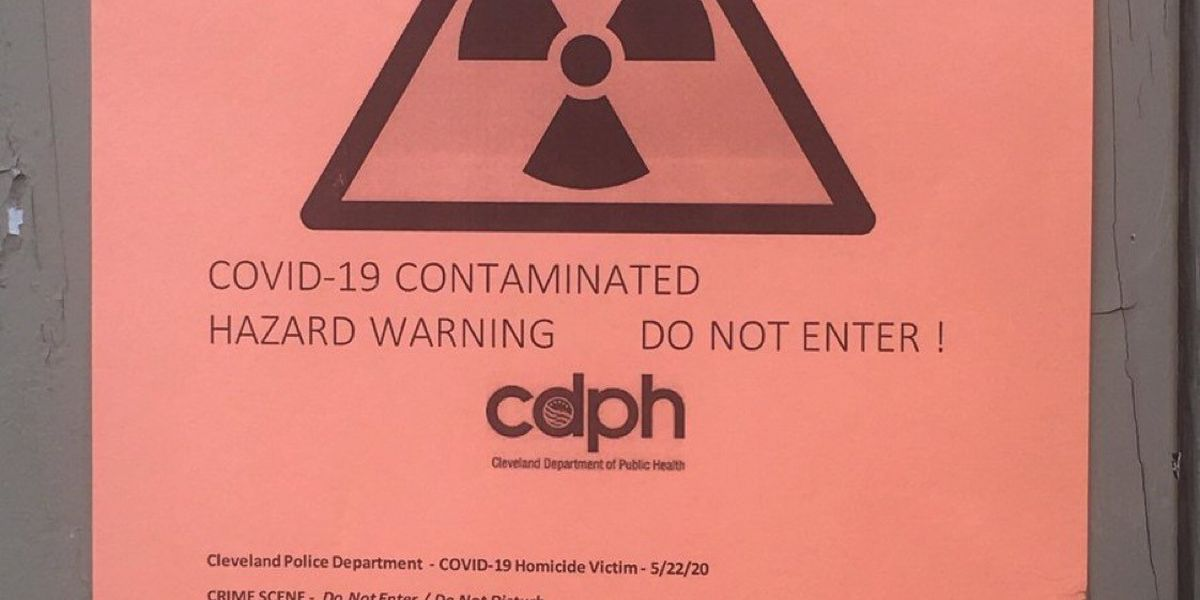 'COVID-19 contaminated hazard warning' signs are fakes, Cleveland Department of Public Health warns