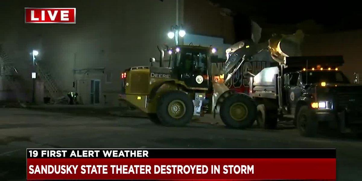Sandusky's historic State Theatre demolished during wicked storm