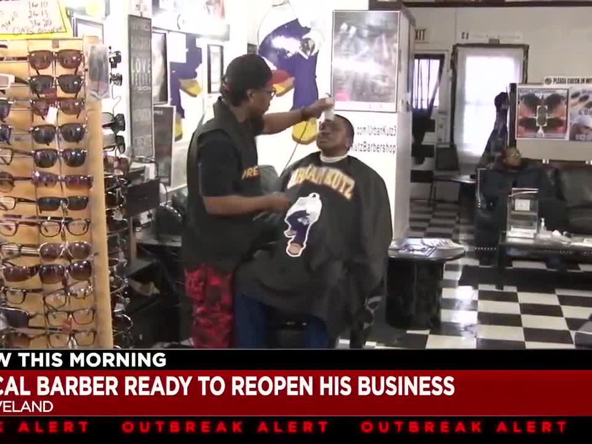 Cleveland barber says many barbershops and salons are ready to reopen now