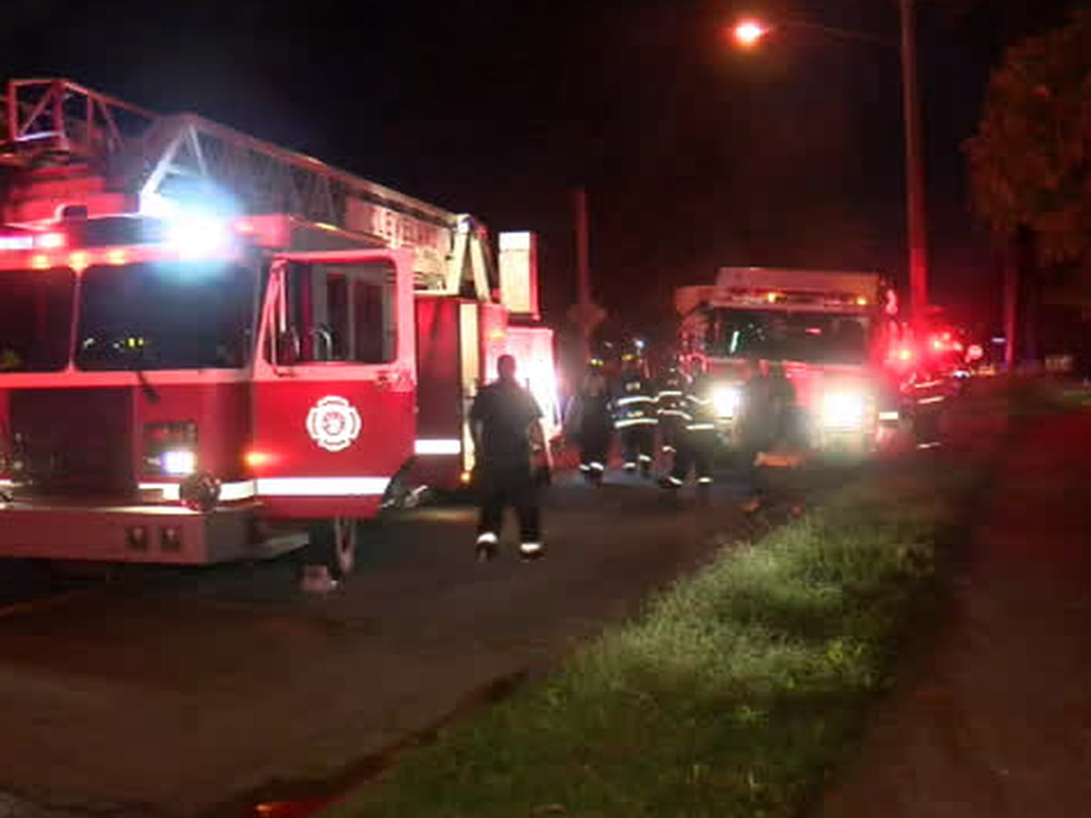 Man injured in house fire on Cleveland's East Side