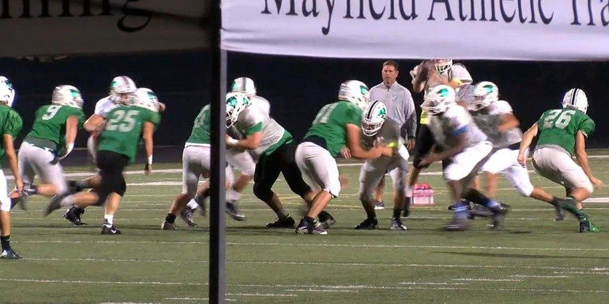 Mayfield High School football team sets early alarm clock for gridiron practice