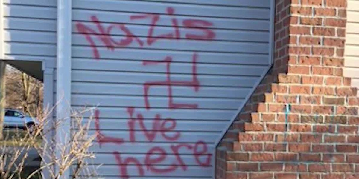 Olmsted Township Police search for vandalizing spree suspects who spray-painted swastika on home