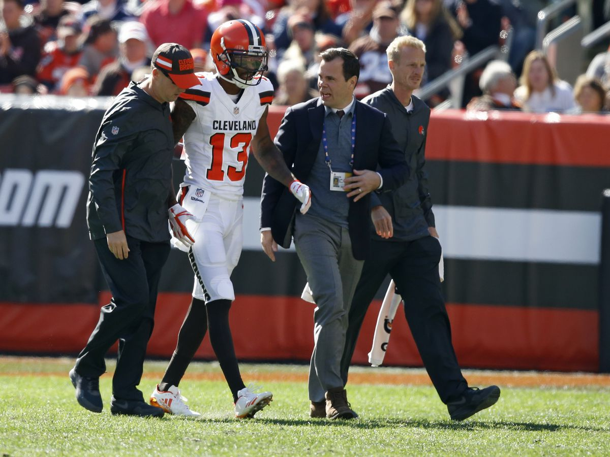 Cleveland Browns wide receiver sidelined for rest of season with neck fracture