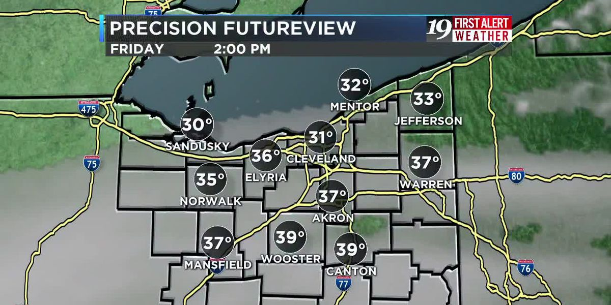Northeast Ohio weather: Quiet ending to the work week
