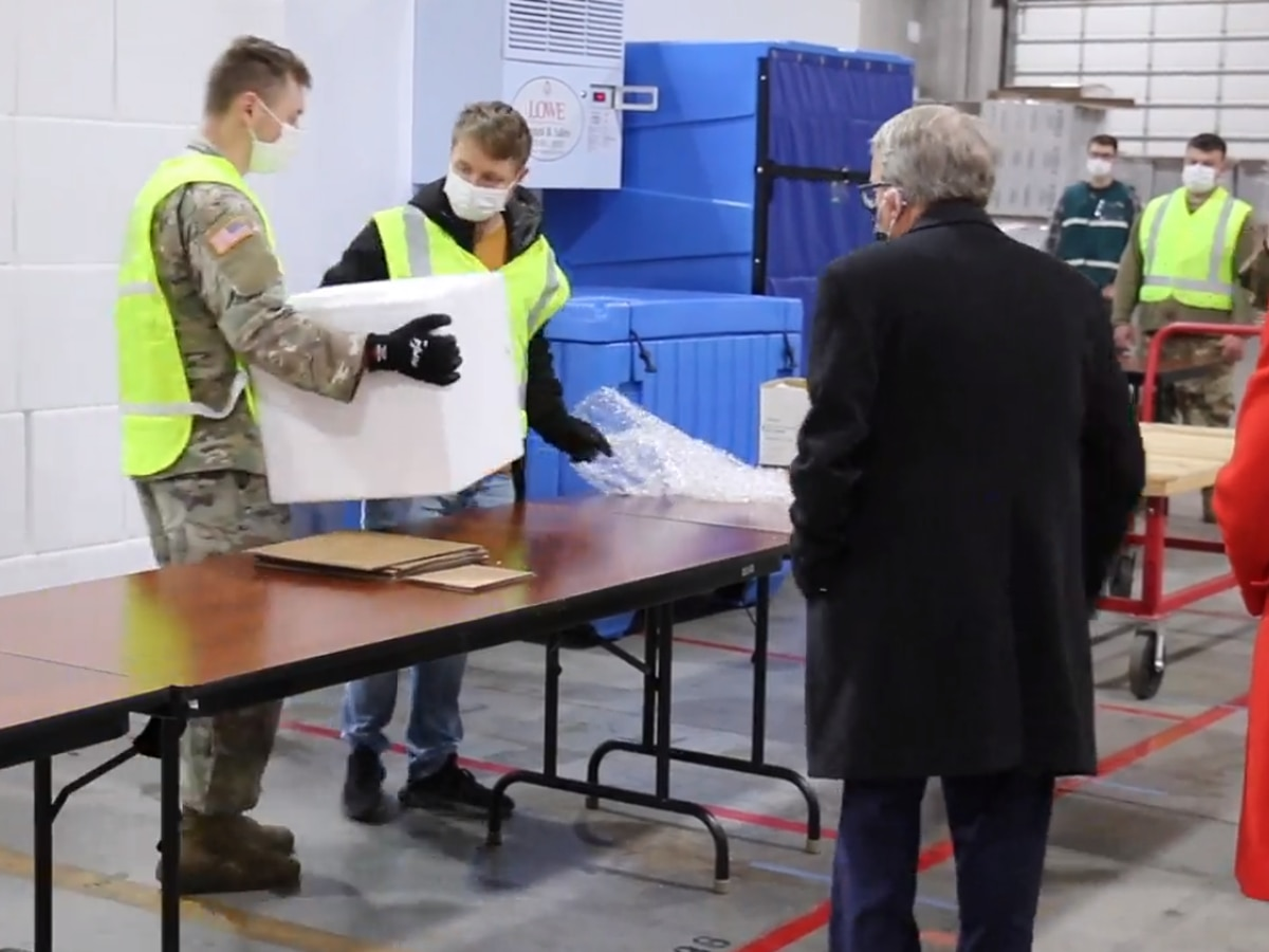 Gov. DeWine tours Ohio warehouse facility that will be used to distribute COVID-19 vaccine in state (video)