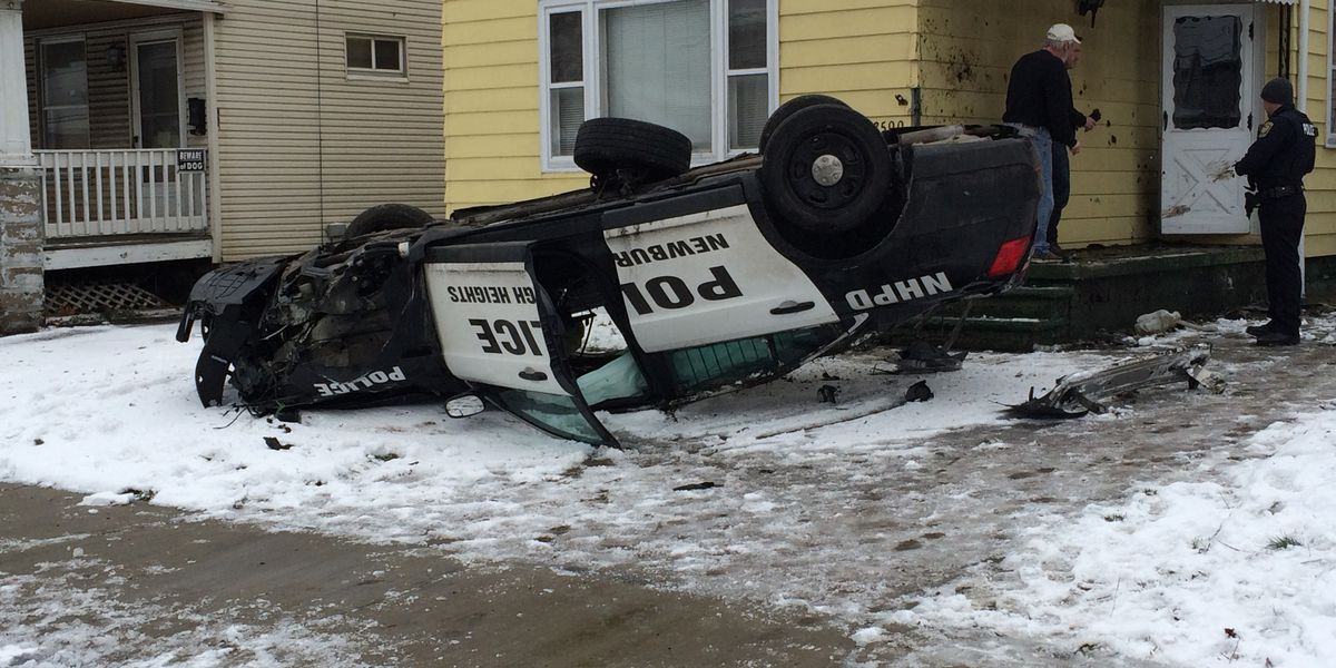 Newburgh Heights Police Officer injured after one of several Sunday morning accidents