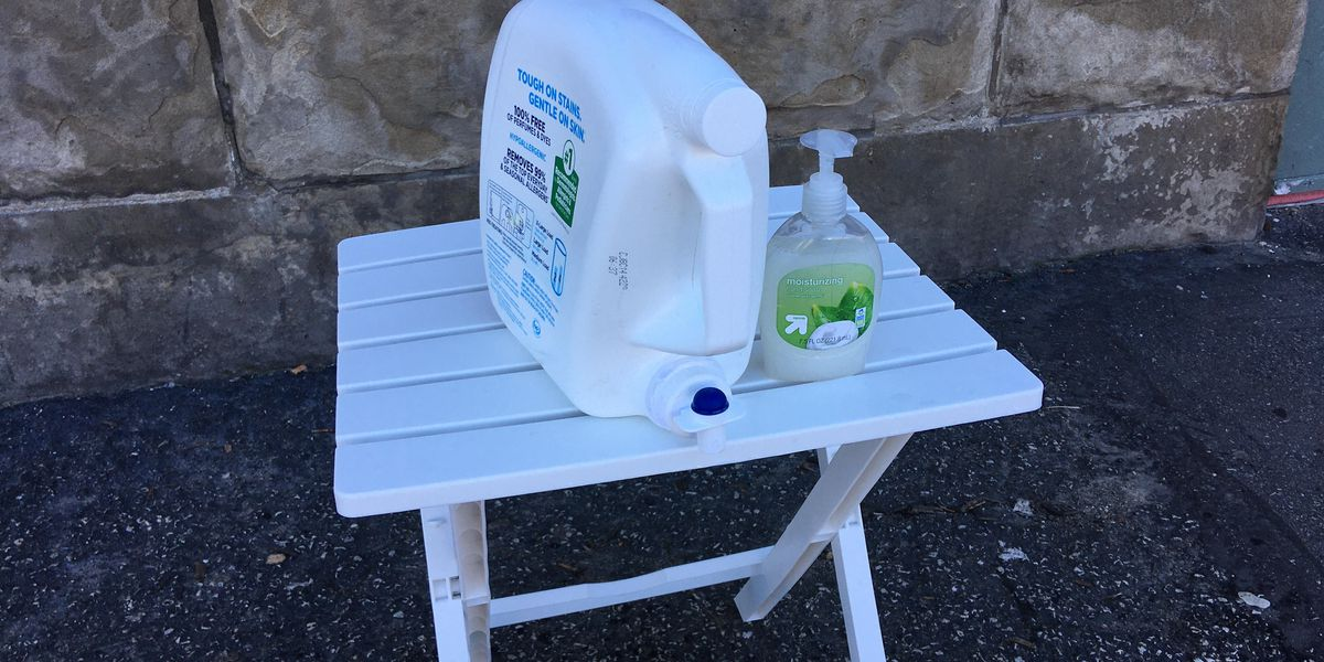 Hand washing Stations for the homeless appear in Cleveland to curb COVID-19