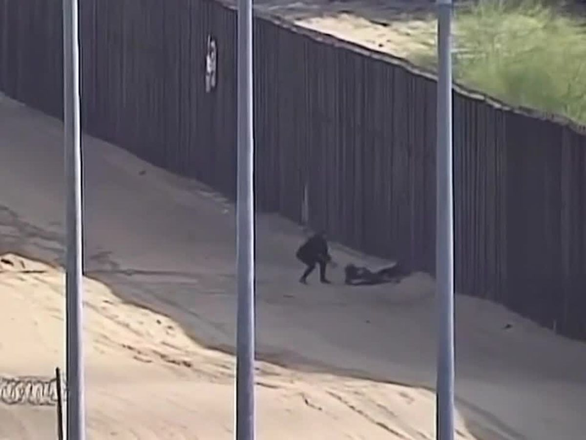 VIDEO: Two teens severely injured after jumping off border wall