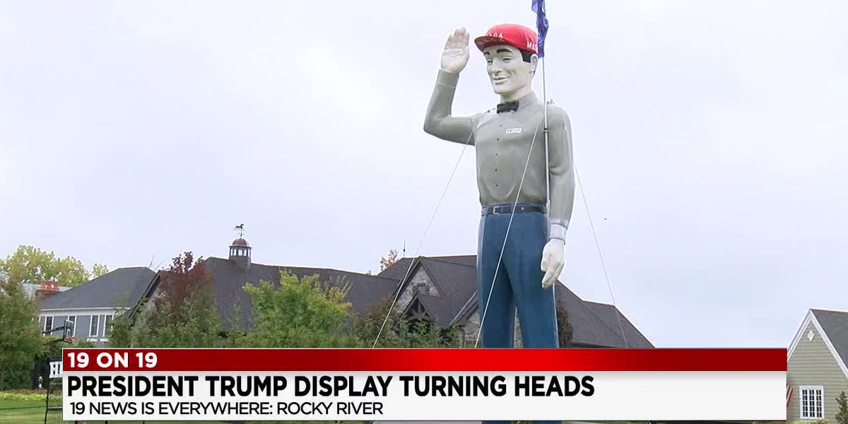 President Trump display in Rocky River turning heads