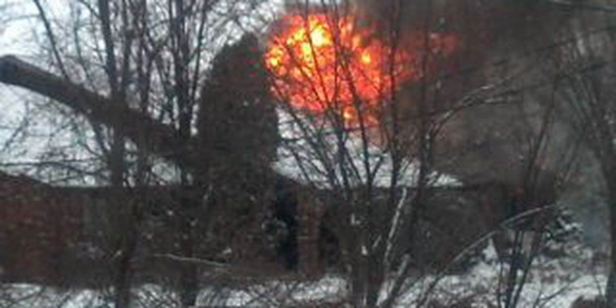 Firefighters battle blaze for hours at home on Lake Road