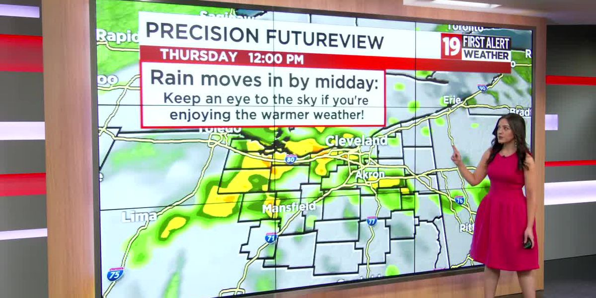 Northeast Ohio weather: Flirting with record-high temps the next couple of days, rain returns Thursday