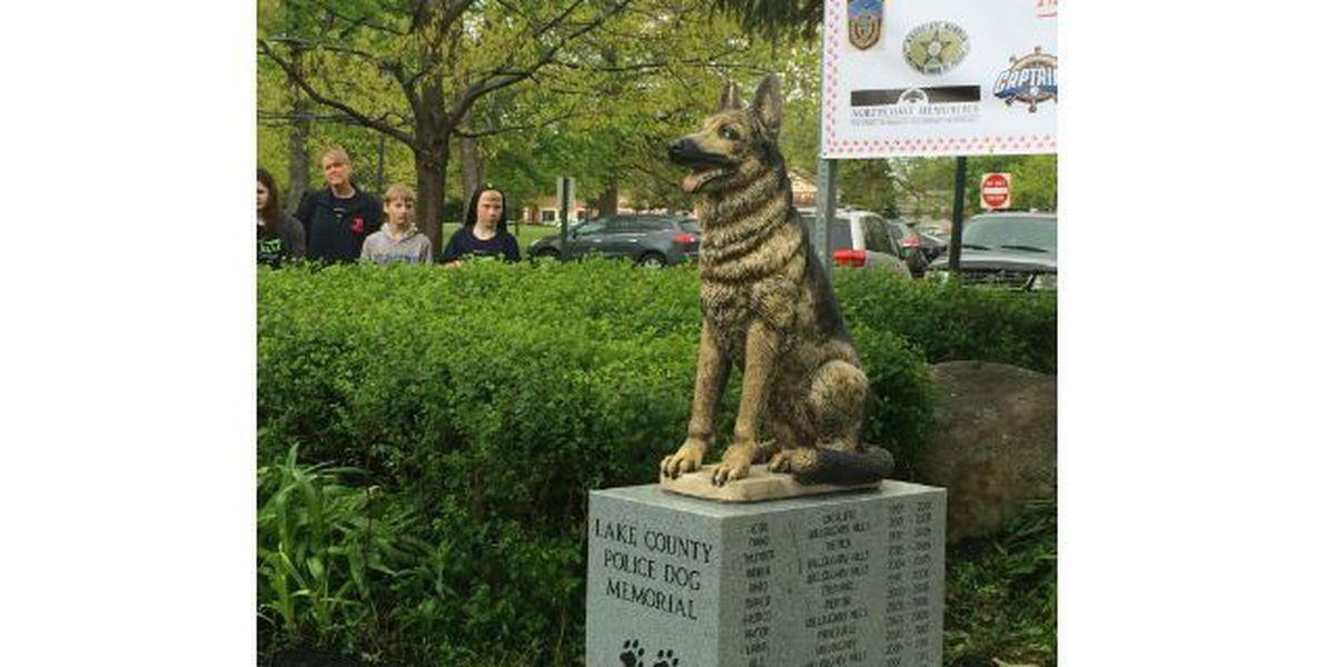 City of Willowick dedicates new police dog memorial