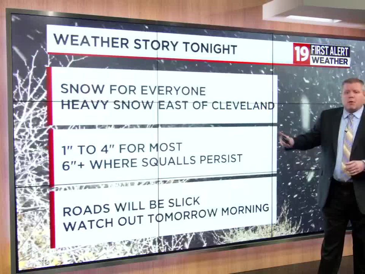 Disruptive Weather: Lake enhanced snows develop overnight, heavy snow will occur