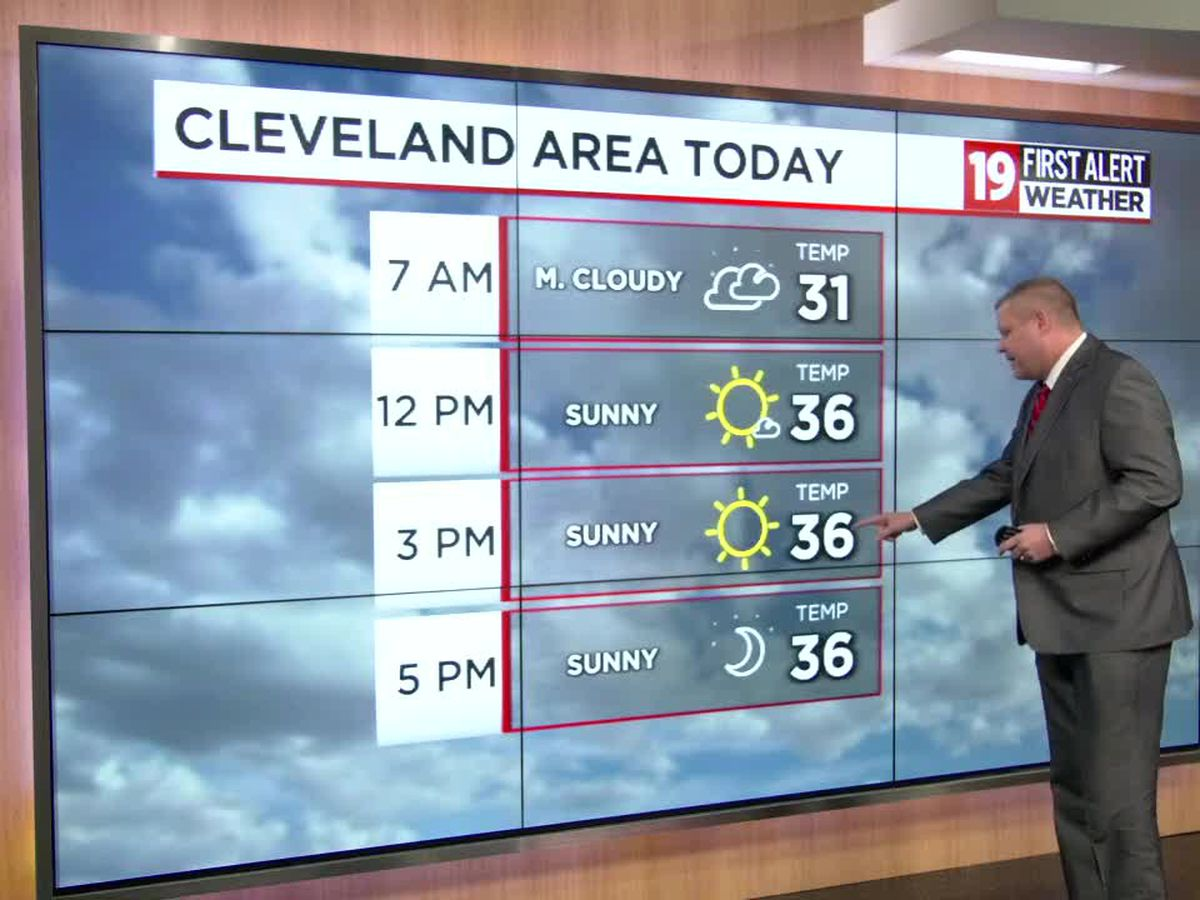 Northeast Ohio Weather: Sunny skies after Tuesday's snowstorm