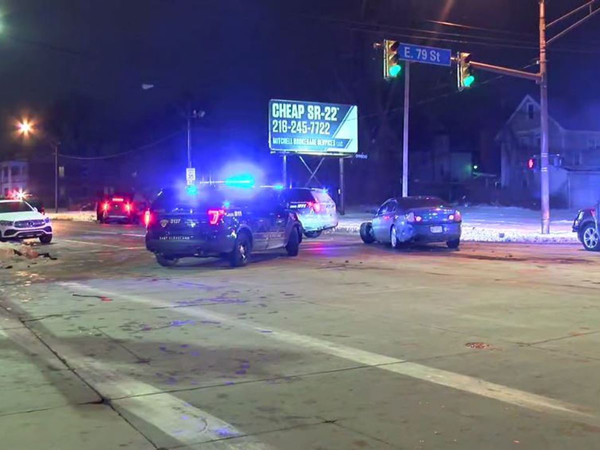 Majority of East Cleveland police pursuits that cross into Cleveland end in a crash