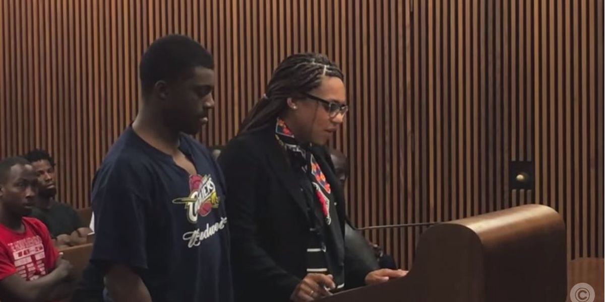 Cleveland mayor's grandson, 20, wears ripped Cavs, Budweiser T-shirt to court for handgun felony charge