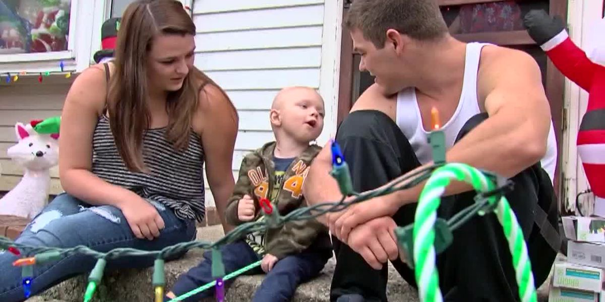 Vandals damage Christmas decorations set up for dying Ohio boy