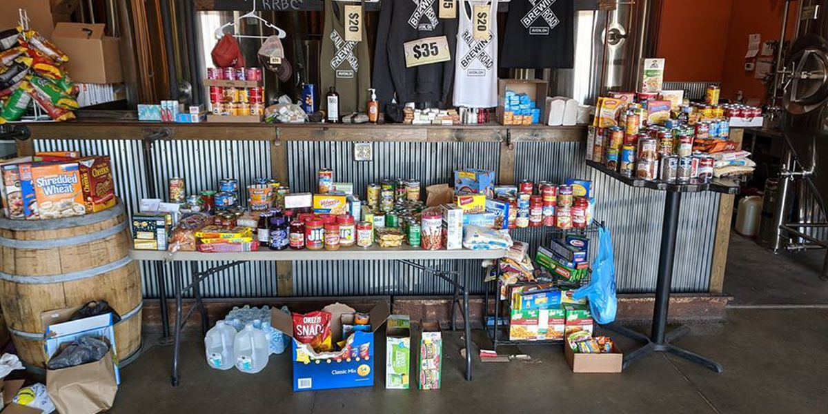 Avon brewery turns tap room into food bank
