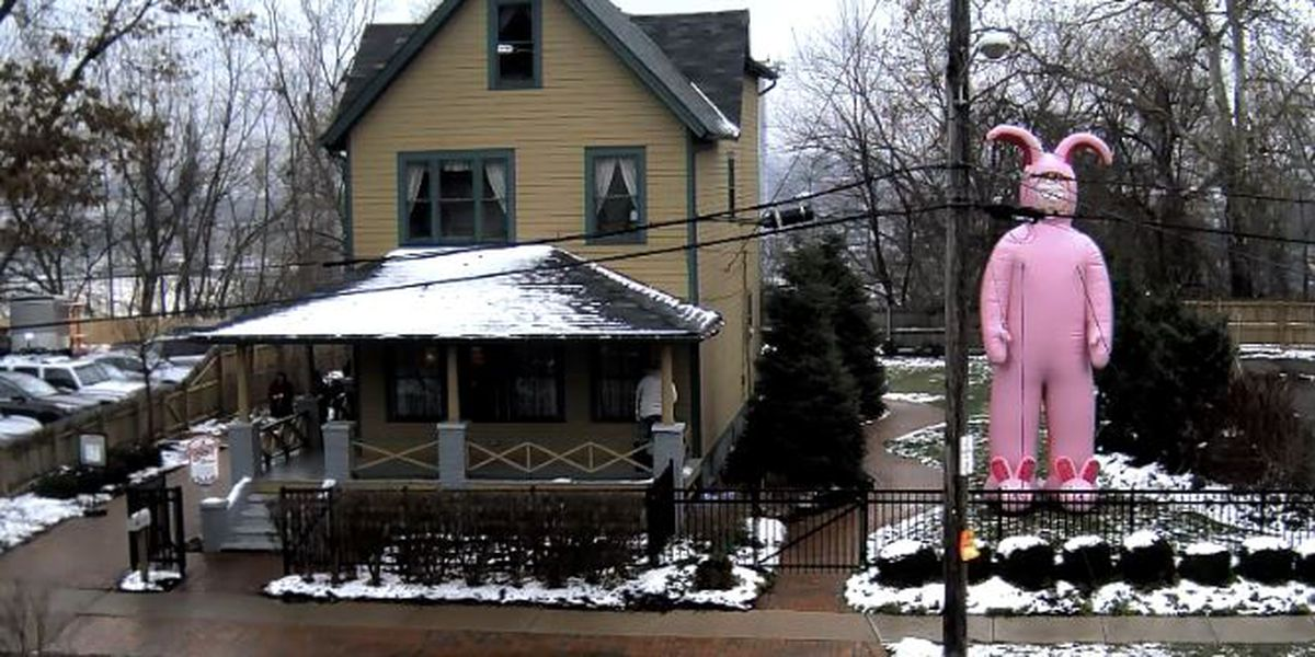 the pink nightmare comes to a christmas story house in tremont